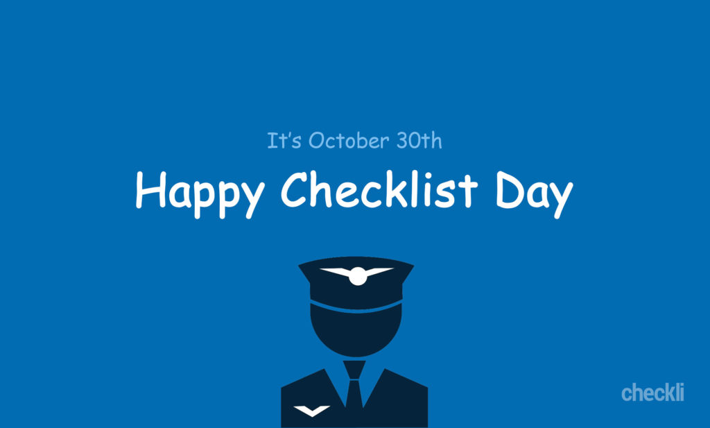 Checklist Day: The History of October 30th